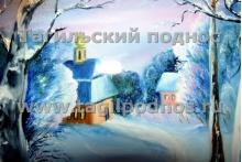 Зимняя деревня (фрагмент)