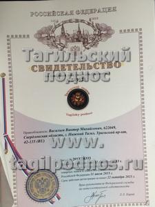 свидетельство на товарный знак - Тагильский поднос ®